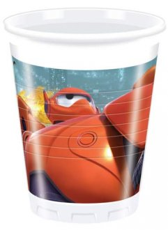 Big Hero 6 Plastic Cups x8