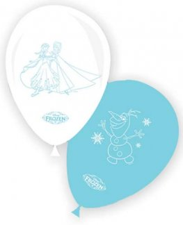 "11"" Frozen Ice Skate Assorted Latex Balloons 8pk"