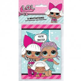 L.O.L Surprise Party Invitations 8pk