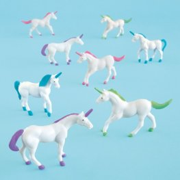 Unicorn Figurines 8pk