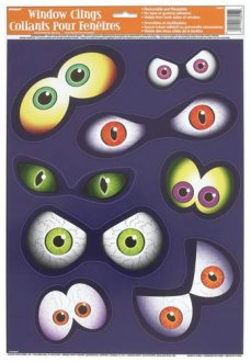 Eyeball Window Cling Sheet