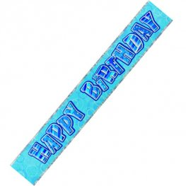 Happy Birthday Blue Glitz Banner