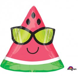 "18"" Fun In The Sun Watermelon Shape Foil Balloons"