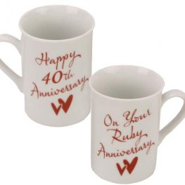 40th Anniversary Mug Set