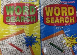 Word Search Brain Game Books x12