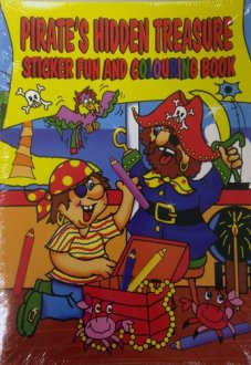 Pirate Sticker And Colouring Books x12