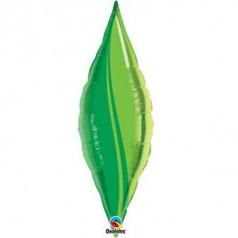 "13"" Green Leaf Taper Air Fill Foil Balloon"