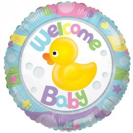 "18"" Welcome Baby Rubber Duck Foil Balloons"