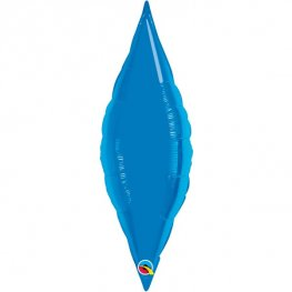 "27"" Sapphire Blue Taper Air Fill Foil Balloon"