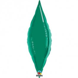 "27"" Emerald Green Taper Air Fill Foil Balloon"