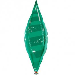 "38"" Emerald Green Taper Swirl Foil Balloon"