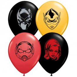 "5"" Marvel's Characters Faces Assorted Latex Balloons 100pk"