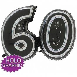 "31"" 60 Black Jointed Number Shape Balloons"