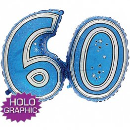 "31"" 60 Blue Jointed Number Shape Balloons"