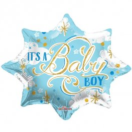 "20"" Its A Baby Boy Blue Foil Balloons"