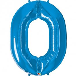 Qualatex Sapphire Blue Number 0 Supershape Balloons