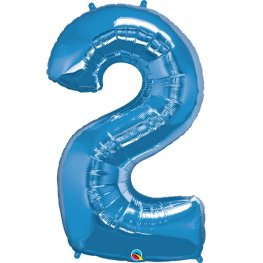 Qualatex Sapphire Blue Number 2 Supershape Balloons