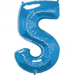Qualatex Sapphire Blue Number 5 Supershape Balloons