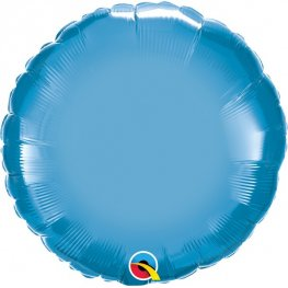 "18"" Chrome Blue Round Foil Balloons"