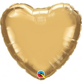 "18"" Chrome Gold Heart Foil Balloons"