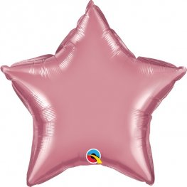 "20"" Chrome Mauve Star Foil Balloons"