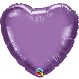 "18"" Chrome Purple Heart Foil Balloons"