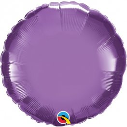 "18"" Chrome Purple Round Foil Balloons"