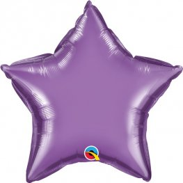 "20"" Chrome Purple Star Foil Balloons"