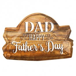 Dad Happy Fathers Day Wood Marquee Supershape Balloons