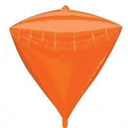 Orange Colour Diamondz Foil Balloons 3pk