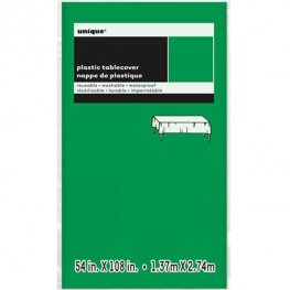 Emerald Green Rectangle Plastic Tablecover