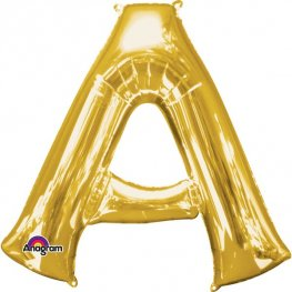 Anagram Gold Letter A Shape Balloons
