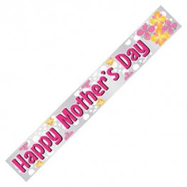 Happy Mothers Day Foil Banner