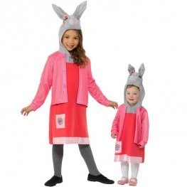 Deluxe Lily Bobtail Peter Rabbit Kids Fancy Dress Costumes