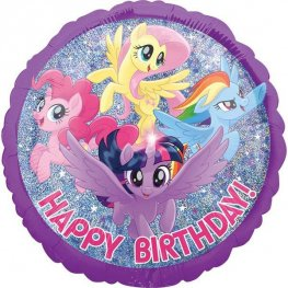 "18"" My Little Pony Adventure Happy Birthday Foil Balloons"