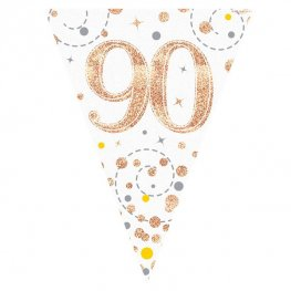 Happy 90th Birthday Sparkling Fizz Party Bunting