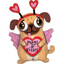Pugs And Kisses Supershape Balloons