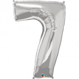 Qualatex silver Number 7 Supershape Balloons