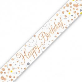 Sparkling Fizz Happy Birthday Holographic Banner