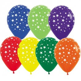 "12"" Star Assorted Latex Balloons 25pk"