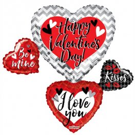 Happy Valentines Day Balloon Bouquet Shape Balloons