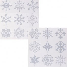 Glitter Snowflakes Window Clings
