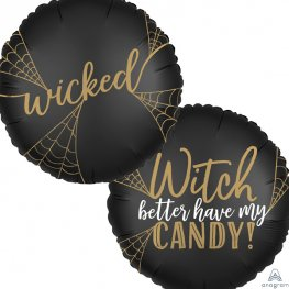"18"" Satin Luxe Wicked Witch Foil Balloons"