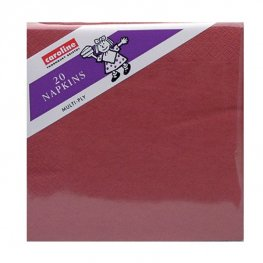 Wine Red Napkins 6 Packs Of 20