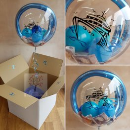 White Bubble Balloon Box