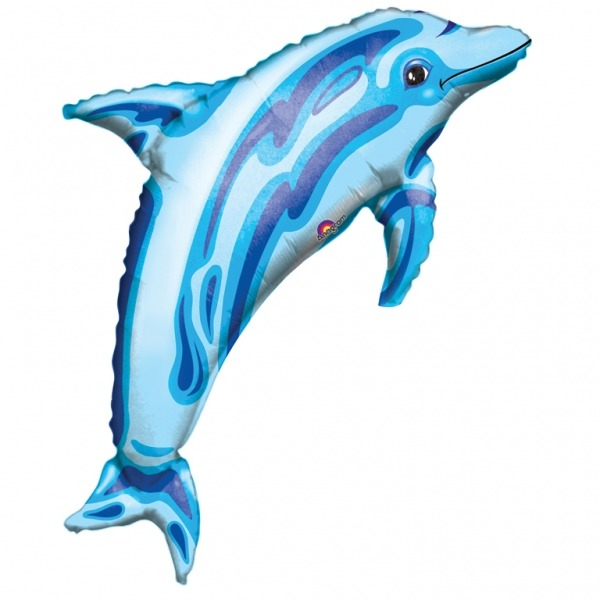 Ocean Blue Dolphin Supershape Balloons