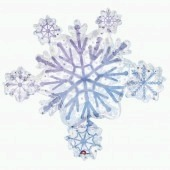 Prismatic Snowflake Cluster Supershape Balloons