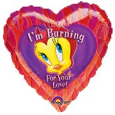 "18"" Im Burning For Your Love Tweety Foil Balloons"