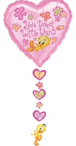 Tweety Drop A Line Valentines Balloons