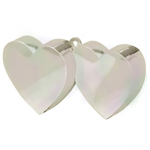 Iridescent Double Heart Balloon Weight 6oz